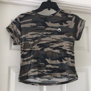 Camo Crop Top With Panda